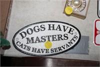 SMALL CAST IRON DOG SIGN