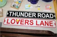 2 METAL ROAD SIGNS