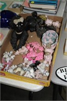 BOX OF POODLE FIGURES