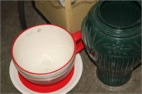 LOT OF SCREEN,URN & CUP PLANTER