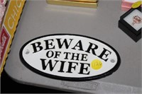 CAST IRON WIFE SIGN