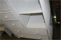 WICKER CHEST OF DRAWERS, 37X18X49 TALL