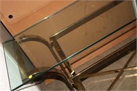 GLASS OCCASIONAL TABLE, 54X18X27 TALL