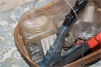 BASKET OF MISC TOOLS