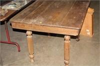 VINTAGE FARM TABLE, 42X33X29 TALL