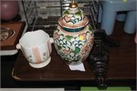 GINGER JAR & PLANTER & WALL SHELF