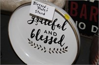 BLESSED PLATE & STAND