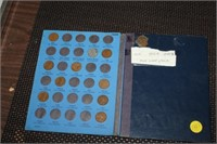 PARTIAL BOOK OF WHEAT PENNIES