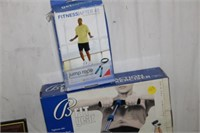 3 BOXES OF EXERCISE ITEMS