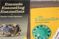 2 BOOKS ON ENAMEL