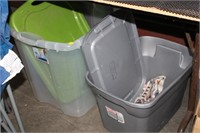 2 TOTES WITH LIDS
