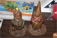 2 GNOME FIGURES