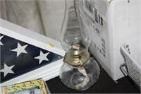 FLAG DISPLAY & OIL LAMP
