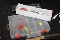 TACKLE BOX & BUTTONS