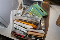 BOX OF PHONE CASES & MISC