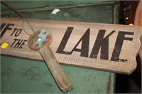 WOODEN LAKE SIGN