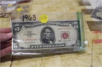 1963 5$ BILL