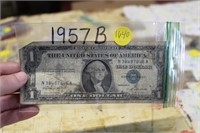 1957B SILVER CERTIFICATE $1 BILL