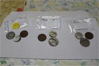 1961 P, 1960D,1963 D COINS