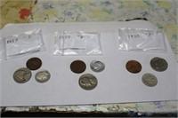 1953D,1954 P,1955 P COINS