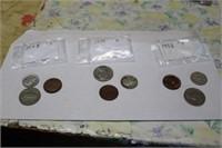 1948S,1955D, 1958P COINS