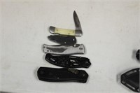LOT OF 5 KNIVES, WINCHESTER, SCHRADE,ETC