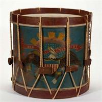 Fine labeled Ernest Vogt (Philadelphia) Civil War Regulation Infantry Regiment drum, 1864 contract