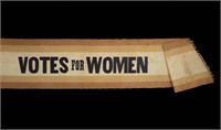 "Original ""VOTES FOR WOMEN"" sash (detail)"