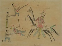 Native American ledger drawing