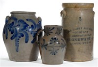 Rare Southern pottery including a previously unrecorded Texas churn and fine Alexandria, VA examples