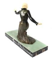 Art Deco Sculpture, Dancing Woman aft Preiss