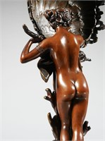 FRENCH ART NOUVEAU BRONZE NUDE