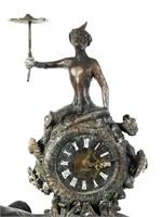 Large Maitland Smith Monkey On Elephant Clock