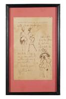 HIPOLITO HIDALGO DE CAVIEDES, Ink on paper