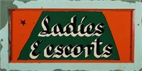 LADIES & ESCORTS 1900s Painted Window