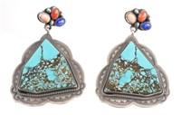 Navajo Sterling Silver Turquoise Earrings