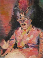 FREDERIC KRUSE, Oil on Canvas, Magician