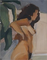 MATTHEW FEINMAN, Oil on Panel, Female Nude