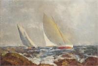 W.S. BARRETT, Oil Painting, Sailboats