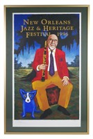 GEORGE RODRIGUE, 1996 New Orleans Jazz Fest Poster