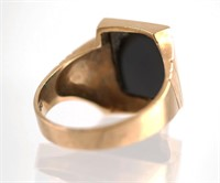 10k Gold Mens Ring w Onyx