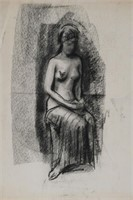 RAYMOND WHYTE, Nude, Charcoal
