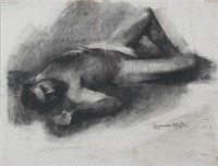 RAYMOND WHYTE, Nude Pencil on Paper