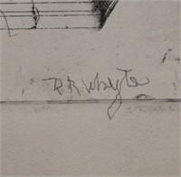Raymond Whyte, Etching