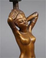 Art Deco Figural Nude Lamp