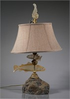 MacKenzie Childs Figural Fish Table Lamp