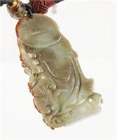 Carved Jade Figural Pendant