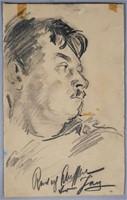 MAURICE BECKER, Charcoal Portrait