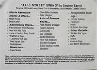 STEPHEN SZYNAL, Mixed Media, 42nd Street Swing