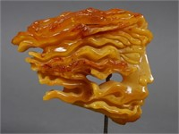 Baltic Amber Carved Head